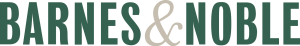 Barnes & Noble logo in bold, capitalized, dark green type